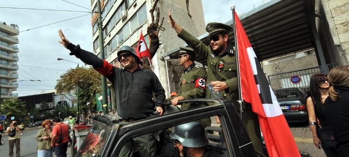 Συνδικαλιστές ΠΟΕ- ΟΤΑ διαδηλώνουν εναντίον της επίσκεψης Μέρκελ το 2012