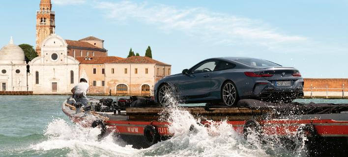 Οδηγική απόλαυση όπως δεν την έχετε ξαναδεί: στο Canal Grande της Βενετίας με τη νέα BMW Σειρά 8 Coupe