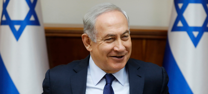 Ο Πρωθυπουργός του Ισραήλ Νετανιάχου -Φωτογραφία: Amir Cohen/Pool Photo via AP)