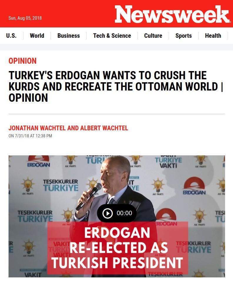 ΣΕΙΣΜΟΣ!«Η Τουρκία του Ερντογάν θέλει να συντρίψει τους Κούρδους και να ξαναδημιουργήσει τον Οθωμανικό κόσμο»...