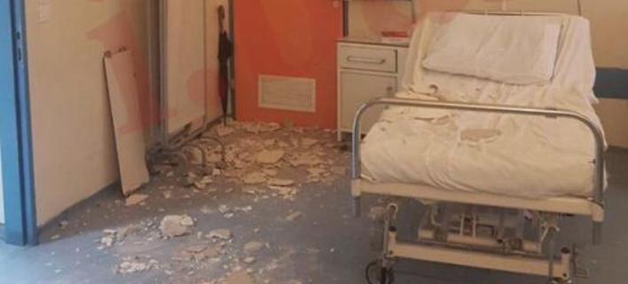 Κατέρρευσε ταβάνι στο νοσοκομείο Νίκαιας -Τραυματίστηκε η μητέρα ασθενούς [εικόνες]