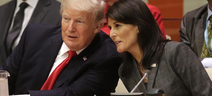 Φωτογραφία: Nτόναλντ Τραμπ και Νίκι Χέιλι/ Associated Press