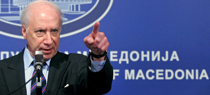 Ο διαμεσολαβητής του ΟΗΕ, Μάθιου Νίμιτς -Φωτογραφία αρχείου: AP Photo/Boris Grdanoski