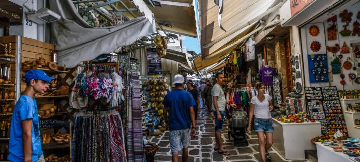 τουρίστες σε ελληνικά νησιά/Φωτογραφία: Eurokinissi