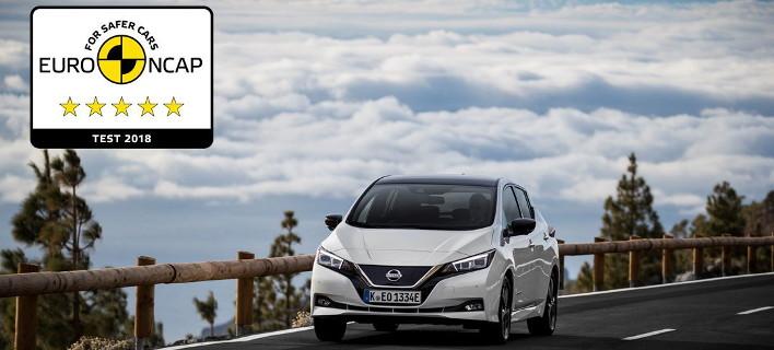 Το νέο Nissan Leaf κατακτά την κορυφαία βαθμολογία των 5 αστέρων στην ασφάλεια