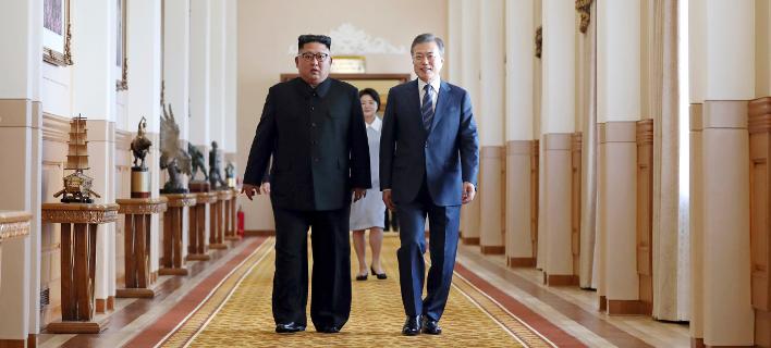η συνάντηση των 2 ηγετών/Φωτογραφία: AP