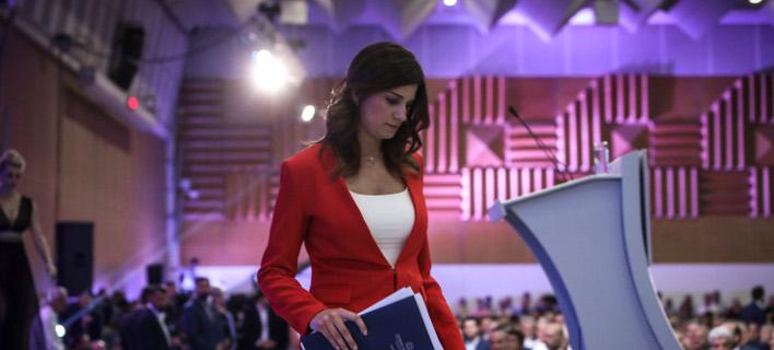 Η Κατερίνα Νοτοπούλου στη ΔΕΘ τον περασμένο Σεπτέμβριο/Φωτογραφία: Eurokinissi