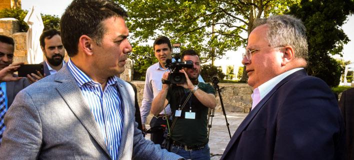 Στιγμιότυπο από τις συναντήσεις Ντιμιτρόφ-Κοτζιά / Φωτογραφία: EUROKINISSI/ΤΑΤΙΑΝΑ ΜΠΟΛΑΡΗ