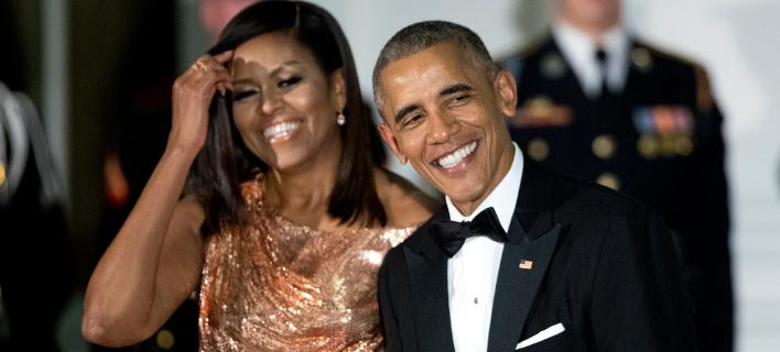 Μισέλ και Μπάρακ Ομπάμα (Φωτογραφία: AP Photo/Manuel Balce Ceneta)