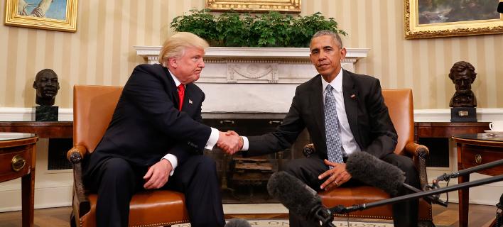 Η ψυχρή πρώτη συνάντηση Ομπάμα-Τραμπ -Και η Ελλάδα στην ατζέντα