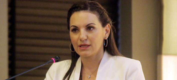 H βουλευτής της ΝΔ Όλγα Κεφαλογιάννη. Φωτογραφία: Eurokinissi/ Χρήστος Μπόνης