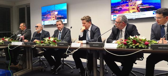 Υπεγράφη η σύμβαση παραχώρησης του 67% του ΟΛΘ (Φωτογραφία: ΤΑΙΠΕΔ)