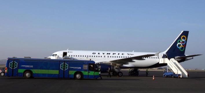 Αεροπλάνο της olympic air- Φωτογραγία: Eurokinissi