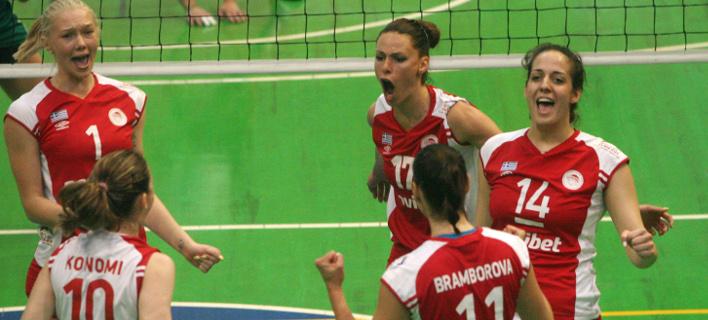 Πρωταθλητής Ελλάδος ο Ολυμπιακός: Αλωσαν την έδρα του ΠΑΟ τα κορίτσια στο βόλεϊ