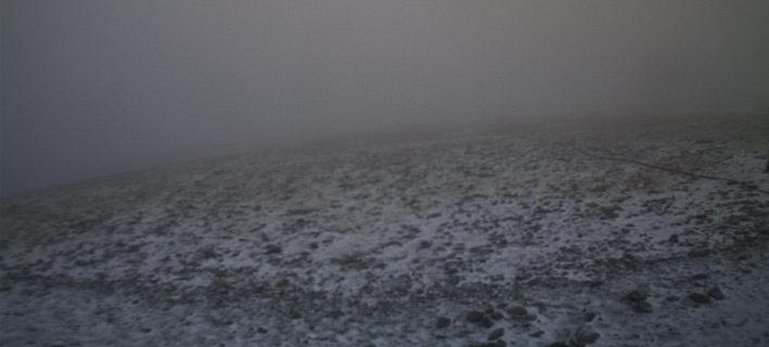 Φωτογραία: snowreport.gr/ Χιονίζει στον Ολυμπο και το Καϊμακτσαλάν