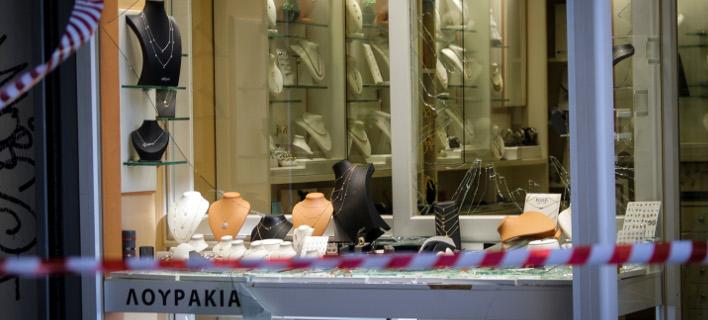 Το κοσμηματοπωλείο στο κέντρο της Αθήνας / Φωτογραφία: EUROKINISSI