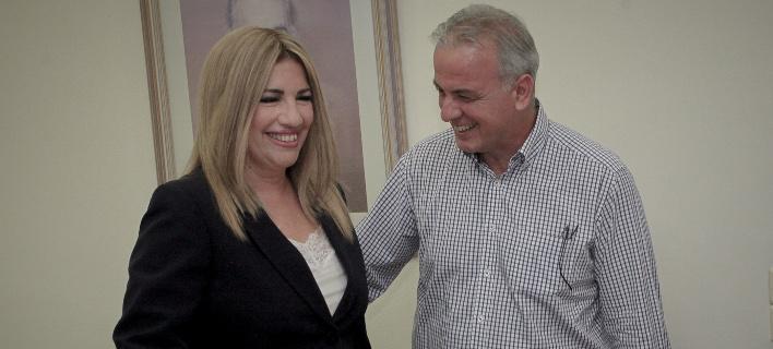 Η Φώφη Γεννηματά με τον διευθυντή του γραφείο της Μαν. Οθωνα -Φωτογραφία αρχείου:  ΧΡΗΣΤΟΣ ΜΠΟΝΗΣ//EUROKINISSI