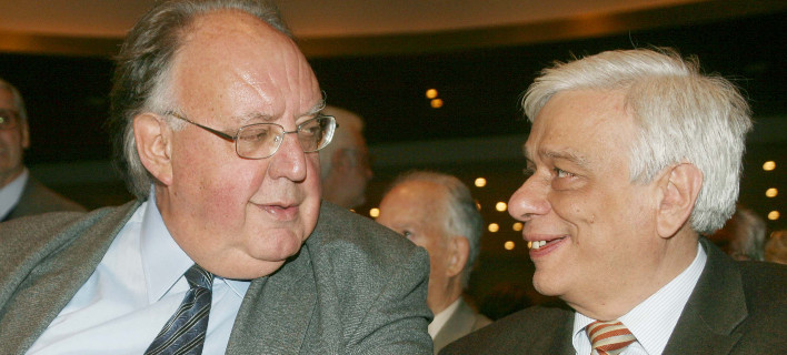 Ο Θ.Πάγκαλος και ο ΠτΔ Προκόπης Παυλόπουλος σε παλαιότερο στιγμιότυπο / Φωτογραφία: EUROKINISSI