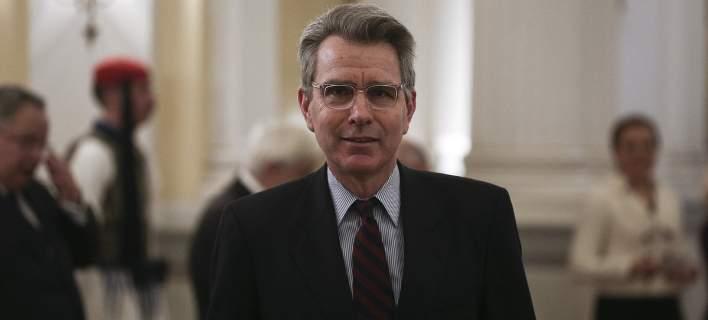 O πρέσβης των ΗΠΑ στην Ελλάδα, Τζέφρι Πάιατ/Φωτογραφία: Eurokinissi