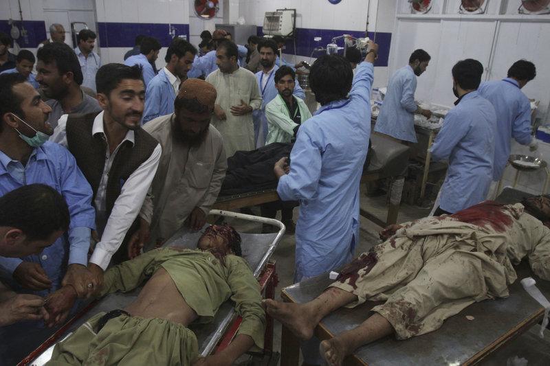 Επίθεση σε προεκλογική συγκέντρωση στο Πακιστάν/ Φωτογραφία AP images