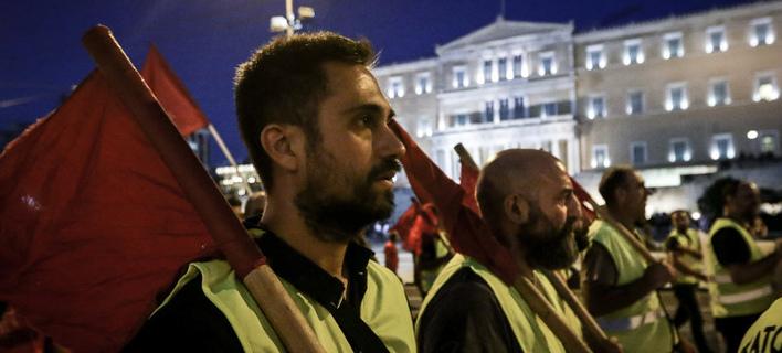 Πορεία διαμαρτυρίας του ΠΑΜΕ για την αντιλαϊκή πολιτική της κυβέρνησης -Φωτογραφία: EUROKINISSI//ΓΙΑΝΝΗΣ ΠΑΝΑΓΟΠΟΥΛΟΣ