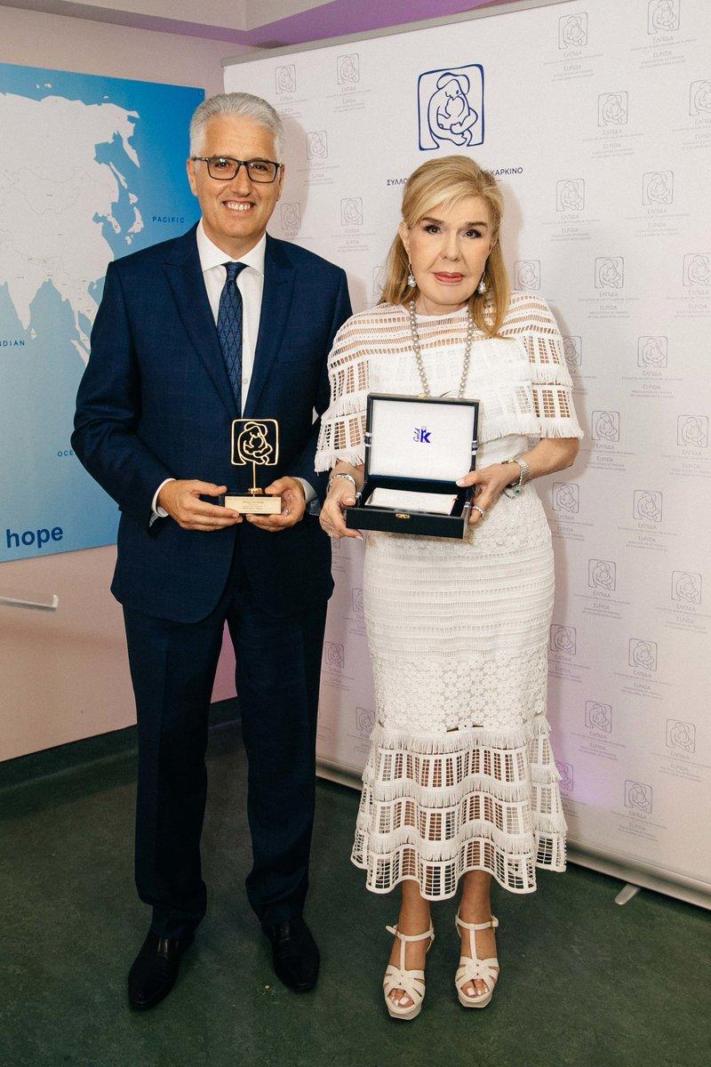 Η Μαριάννα Β. Βαρδινογιάννη με τον Πρόεδρο του «The Hellenic Initiative» της Αυστραλίας, κύριο Nicholas Pappas