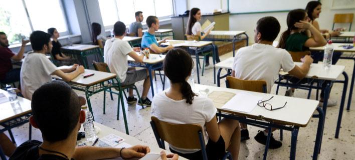 Πανελλήνιες εξετάσεις (Φωτογραφία: EUROKINISSI/ΓΙΑΝΝΗΣ ΠΑΝΑΓΟΠΟΥΛΟΣ)