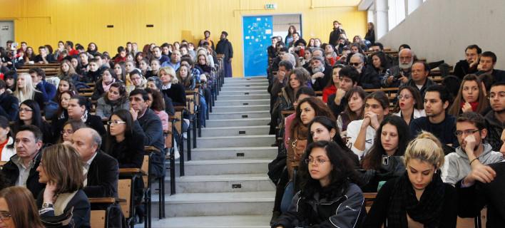 Σε αμφιθέατερο πανεπιστημίου/Φωτογραφία: Eurokinissi
