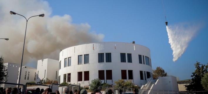 φωτιά στο πανεπιστήμιο Κρήτης/Φωτογραφία: Eurokinissi