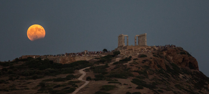 πανσέληνος στο Σούνιο/Φωτογραφία: Eurokinissi/ΣΤΕΛΙΟΣ ΜΙΣΙΝΑΣ