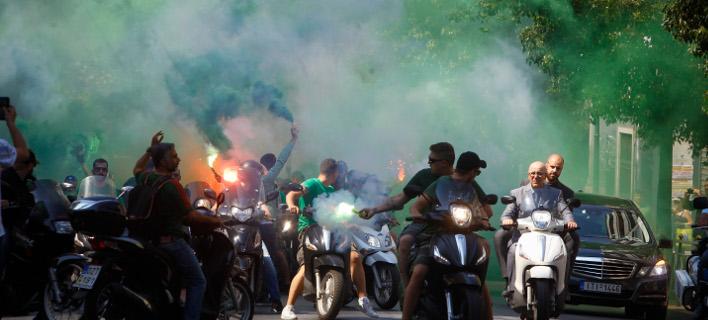 Πορεία οπαδών του ΠΑΟ/Φωτογραφία: Eurokinissi