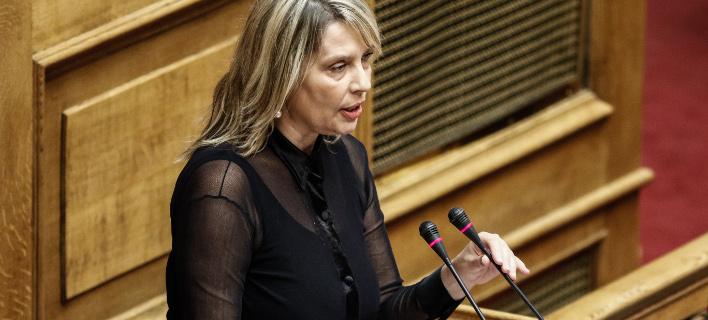 Η Κατερίνα Παπακώστα (Φωτογραφία: EUROKINISSI/ΓΙΩΡΓΟΣ ΚΟΝΤΑΡΙΝΗΣ)