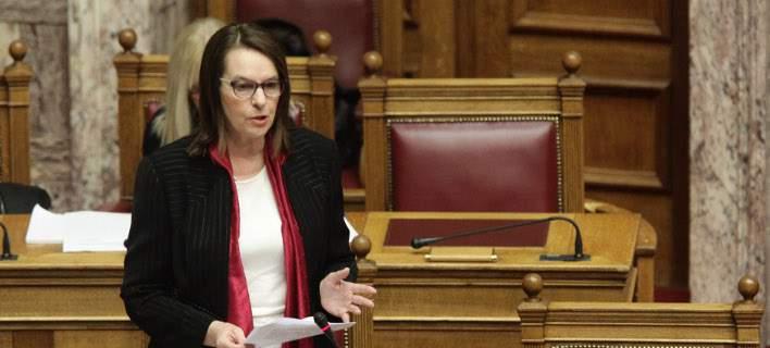 η υφυπουργός Οικονομικών Κατερίνα Παπανάτσιου /Φωτογραφία: Εurokinissi