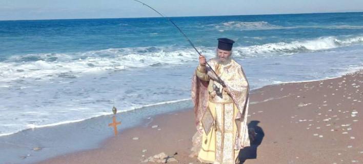 Ο Παπάς με το καλάμι στο Καλό Νερό Τριφυλίας