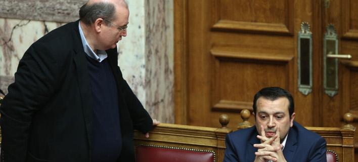 Νίκος Φίλης & Νίκος Παππάς (Φωτογραφία: IntimeNews/ΜΠΑΛΤΑΣ ΚΩΣΤΑΣ)