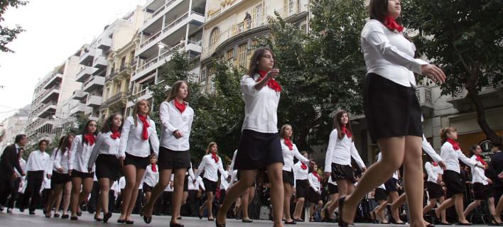 Ξεκίνησε η μαθητική παρέλαση στη Θεσσαλονίκη για την επέτειο της 28ης Οκτωβρίου [βίντεο]