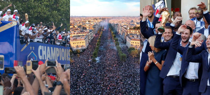 Χιλιάδες κόσμου στην υποδοχή των Παγκόσμιων Πρωταθλητών /Φωτογραφία: AΡ