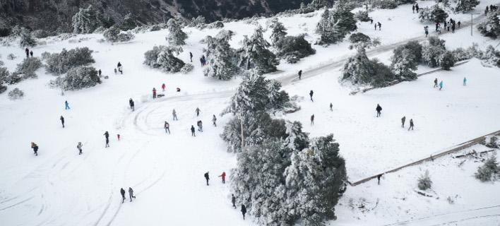 η χιονισμένη Πάρνηθα/Φωτογραφία: Eurokinissi