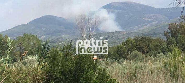 Μεγάλη φωτιά στην Ηλεία -Απειλούνται σπίτια