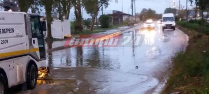 Πλημμύρισαν δρόμοι της Πάτρας (Φωτογραφία: tempo24)