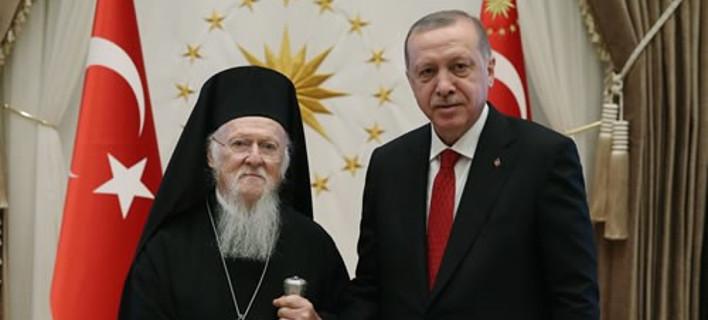 Από την συνάντηση Ερντογάν-Βαρθολομαίου -Φωτογραφία: tccb.gov.tr
