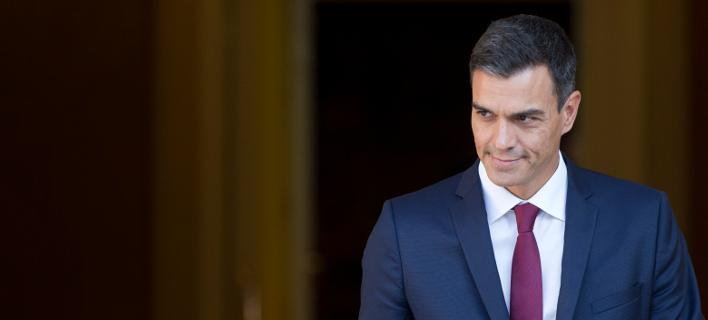 O πρωθυπουργός της Ισπανίας Πέδρο Σάντσεθ (Φωτογραφία: AP/Paul White)