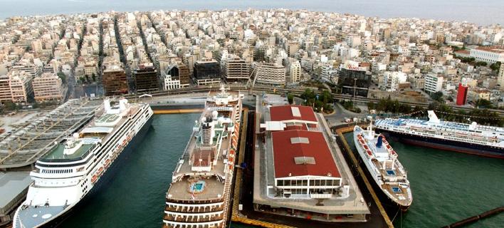 Αποψη από το λιμάνι του Πειραιά που αποτελεί κινεζικό εφαλτήριο προς την Ευρώπη/ Φωτογραφία: Eurokinissi