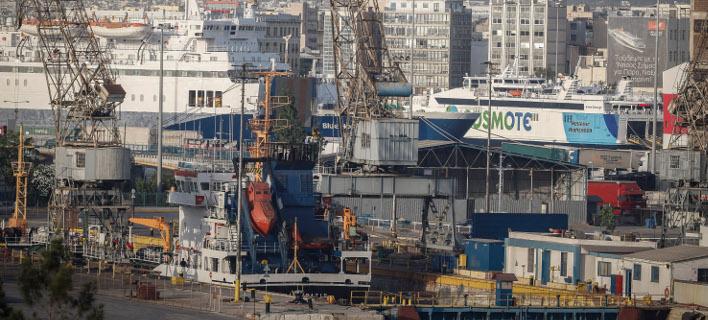 Εμφραγμα στο λιμάνι του Πειραιά από την απεργία διακινητών εμπορευματοκιβωτίων -Φωτογραφία αρχείου: Eurokinissi