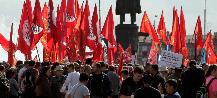 διαμαρτυρία στη Ρωσία/Φωτογραφία: AP