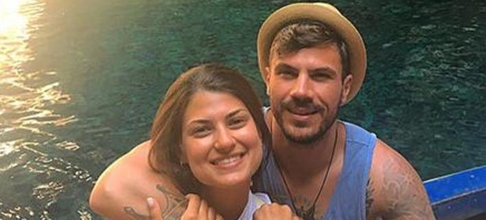 Ευτυχισμένοι μαζί Άκης Πετρετζίκης-Φωτεινή Παπαλεωνιδοπούλου. Φωτογραφία: Instagram