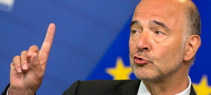 Ο επίτροπος Οικονομικών και Νομισματικών Υποθέσεων της ΕΕ, Πιερ Μοσκοβισί: (Φωτογραφία: AP/Virginia Mayo)