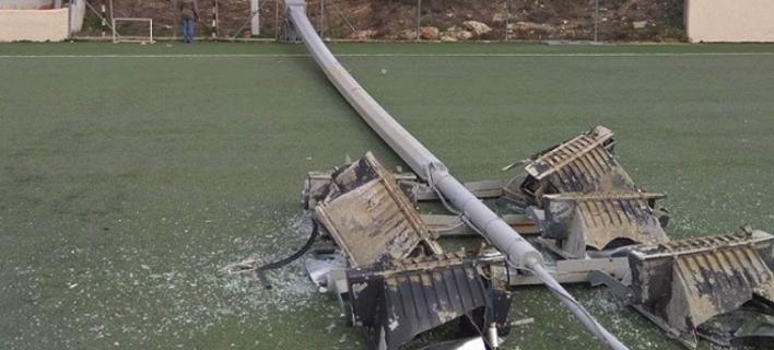 Παραλίγο τραγωδία στη Σταμάτα -Επεσε πυλώνας στο γήπεδο δύο λεπτά μετά το τέλος αγώνα