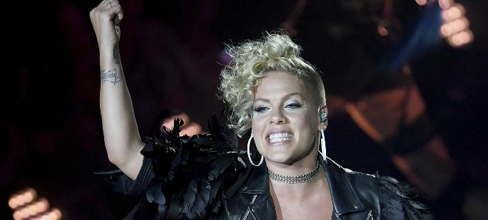 Η τραγουδίστρια Pink(Φωτογραφία: AP)