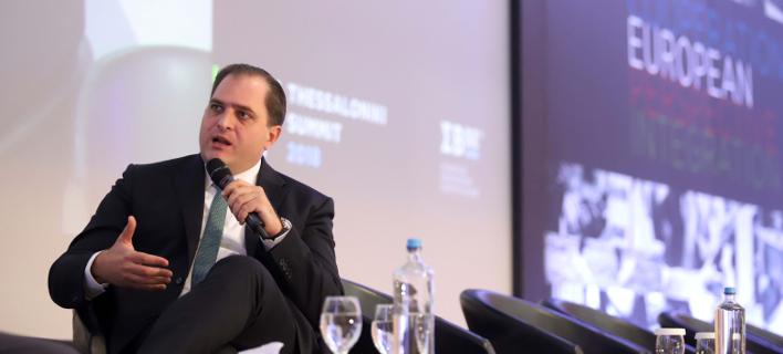 Ο επικεφαλής της ΑΑΔΕ, Γιώργος Πιτσιλής στο 3ο Thessaloniki Summit- Φωτογραφία: Eurokinissi/ Φανή Τρυψάνη